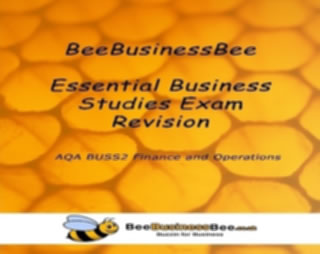 Buy Your Copy of BeeBusinessBee AQA Business Studies BUSS2 Finance and Operations Key Notes